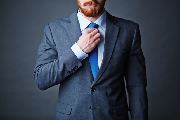 Close-up of businessman in elegant suit